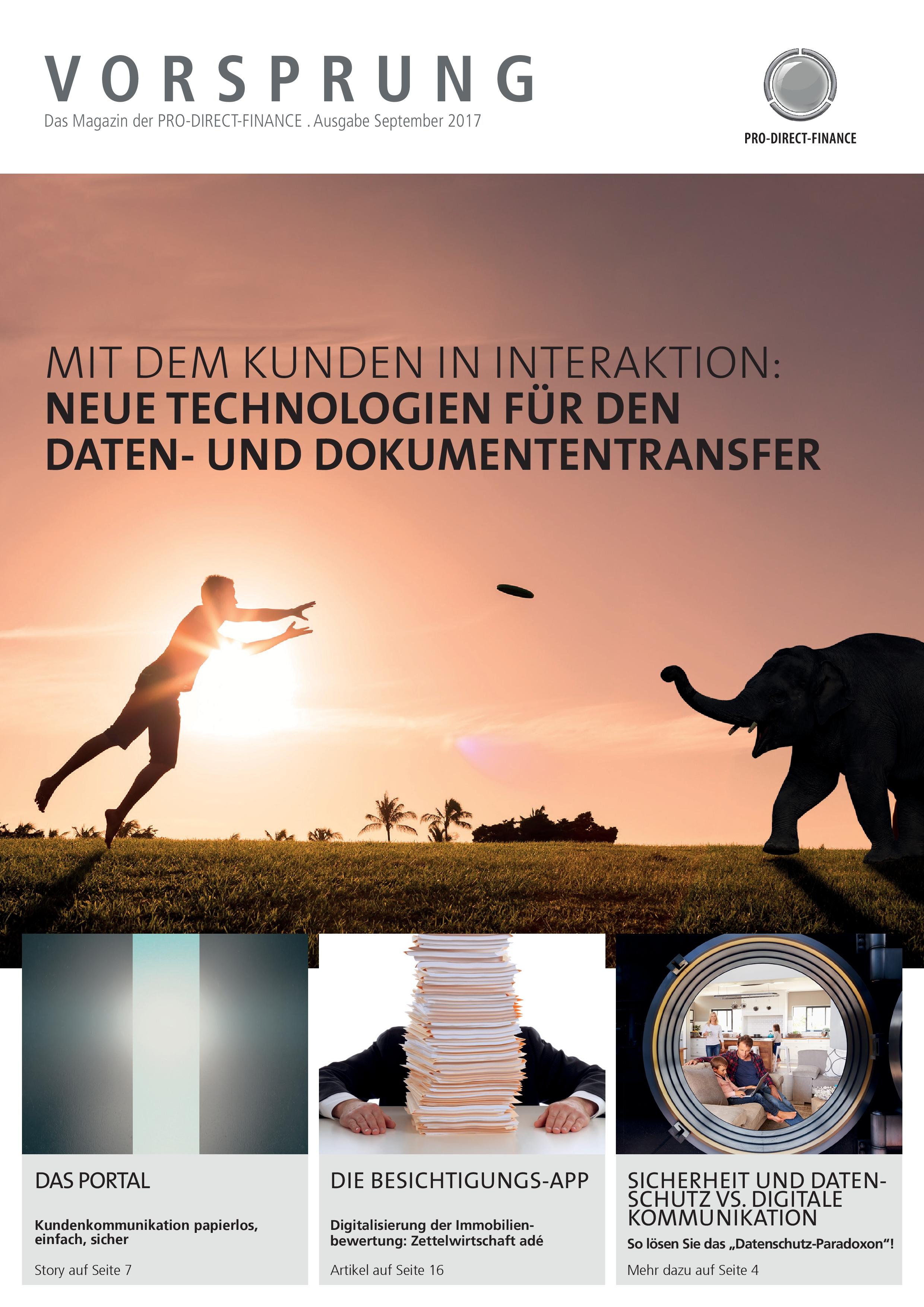 Banken-Magazin Vorsprung Titelbild